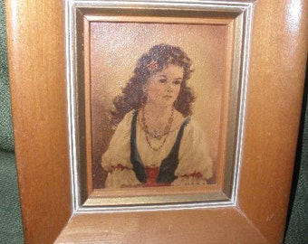 Litho Print by Anne Allaben Gypsy Girl in Frame