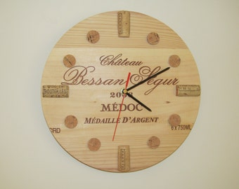 wine crate clock