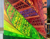Fall Geometric Art Acrylic Painting