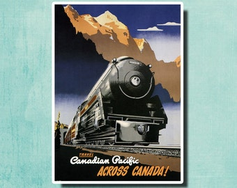 Travel Canadian Pacific Across Canada! - 1947 - Vintage Travel Poster SG4308