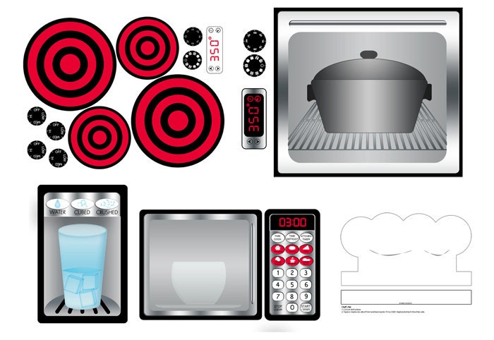 Digital Download Play Kitchen Stainless Decal Prinitables