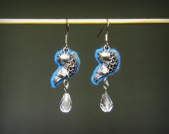 Happy splashy fish- aromatherapy/detox earrings