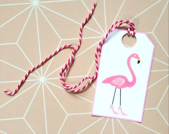 DIY Printable flamingo tags / gift tags / labels