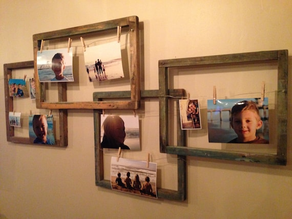 Items Similar To Creative Clothespin Picture Frames On Etsy