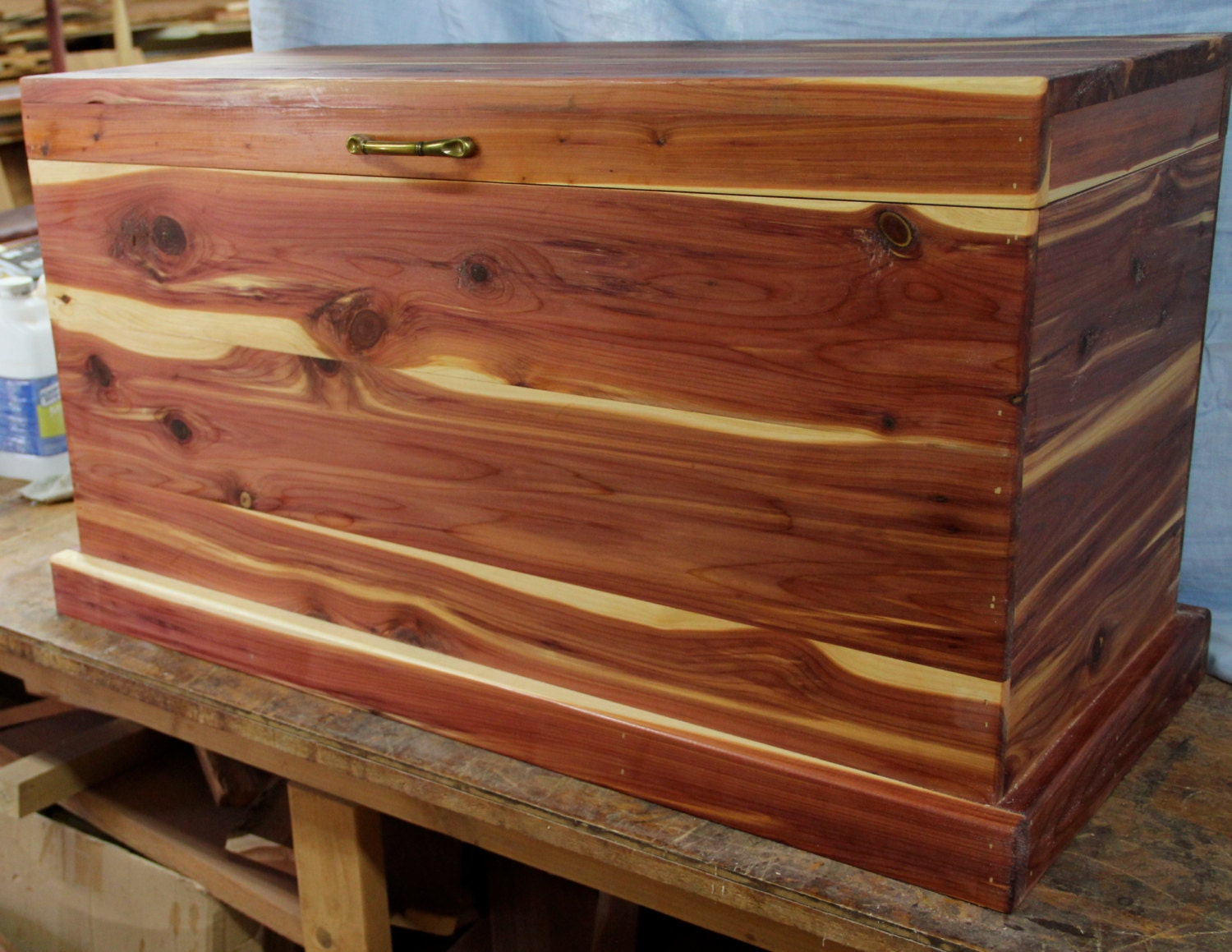 Cedar chest blanket box hope toy wood