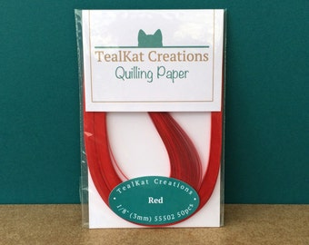 Red Quilling Paper