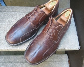 Vintage Johnston & Murphy Mens Used Brown Leather Oxfords 11.5 M