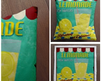 Vintage Lemonade - Cushion Fabric Panel Or Case or with Filling