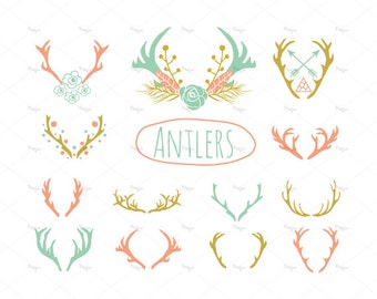 Clip Art Antler Clip Art antler clipart etsy 21 antlers eps and png instant download reindeer horns antlers