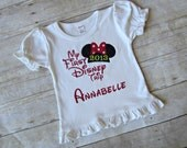 My First Disney Trip Shirt - Minnie Shirt - Disney Trip Shirt - Minnie Mouse - Girls Birthday Shirt