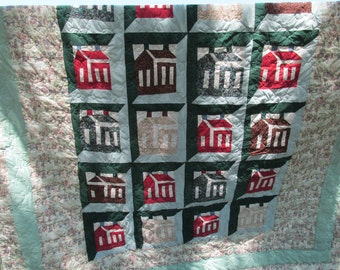 Full size School House quilt