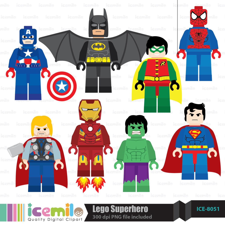 Lego Clip Art Free Lego superhero digital clipart