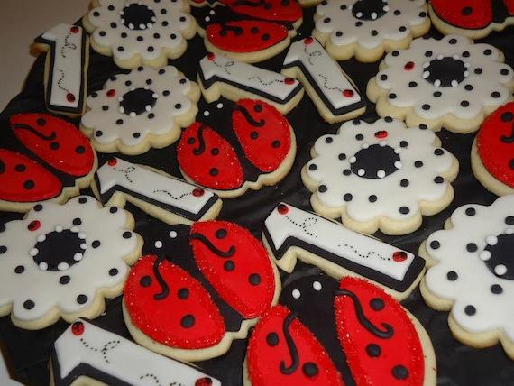 Ladybug Sugar Cookies