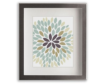Chrysanthemum Art Print (i) - home decor, gift idea, wall decor, floral, flower, mum, living room decor, dining room, modern floral art