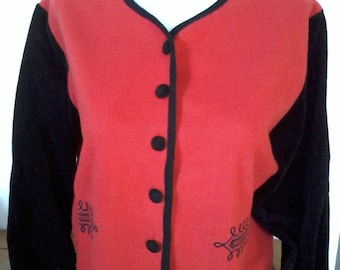 original small red and black short jacket