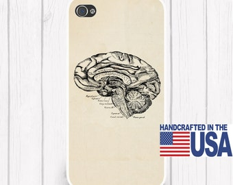 Vintage Brain Anatomy Antique Anatomy Brain Personalized Phone Case iPhone 6/6S, iPhone 5/5S, iPhone SE, Samsung iPhone7 iPhone 7