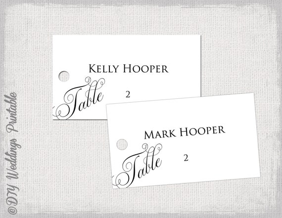 escort card template