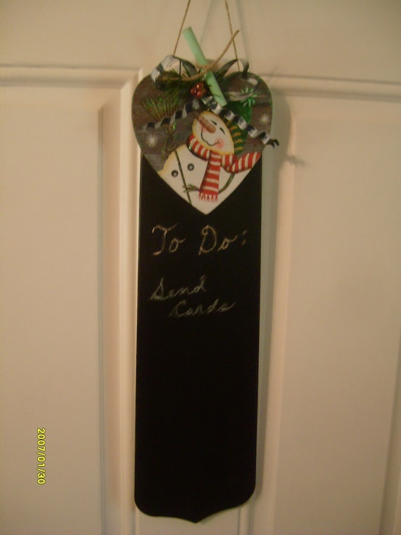 Items Similar To Snowman Chalk Board Ceiling Fan Blade On Etsy