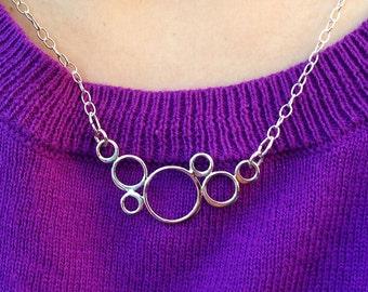 Modern Fun Silver Bubbles Necklace