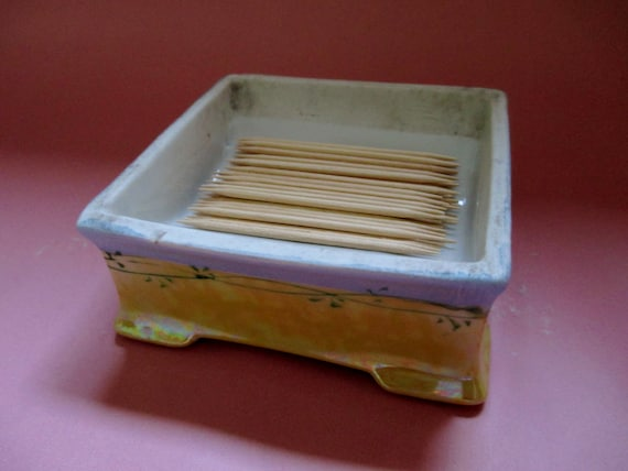 Toothpick holder vintage toothpick holder japanese by cgmgallery - Toothpick holder for purse ...