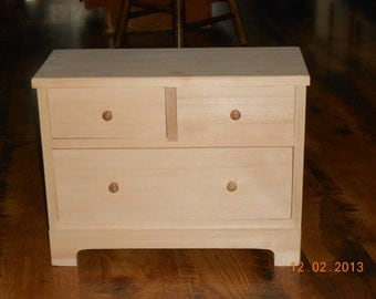 Handcrafted Wood Doll Dresser