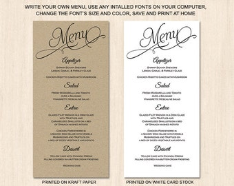 Popular Items For Menu Cards On Etsy