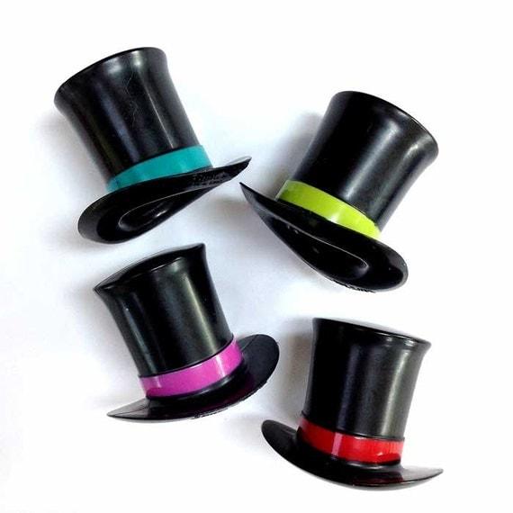 ... hats, Plastic hat cake picks, Snowman hat, Miniature plastic hats for