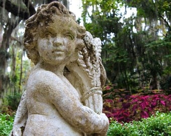 Garden Statues, Gardens, Charleston, South Carolina Photography, Fine Art Print, Original Fine Art, Photo Print, Home Decor, Wall Decor