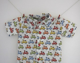 Scooter print boys shirt.