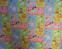 On Sale!!!!Rare Precious Moments Animals Fleece Fabric By The Yard