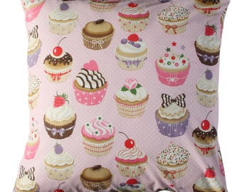 Cup Cakes Cushion in Pig color. Insert included.
