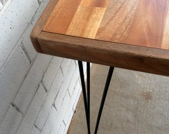 HARDWOOD dining table with FRAME and hairpin legs