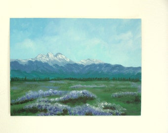 Study in Blues Original landscape painting