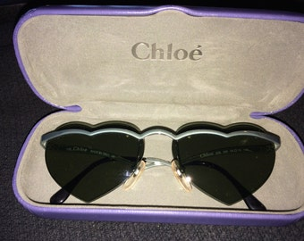 Chloe Heart Shaped Sunglasses with Original Case