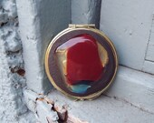 Double Sided Make Up Mirror Compact/ Fused Glass Mirror, Pocket Mirror