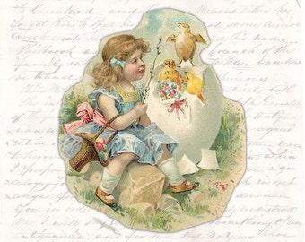 Digital Easter Postcard Victorian