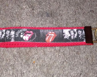 Rolling Stones wristlet key fob holder key chain