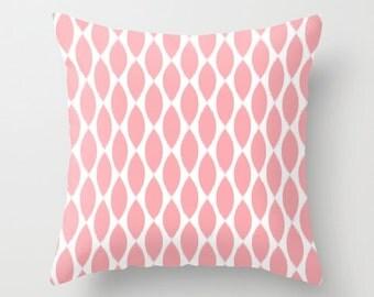 Girls Bedroom Decor, Pink Pillow Cover, Ikat Pillow, Velvet Cushion, Teen Girl Room Decor, Tween Girls, Dorm Room Decor, Pink Decor, 18x18