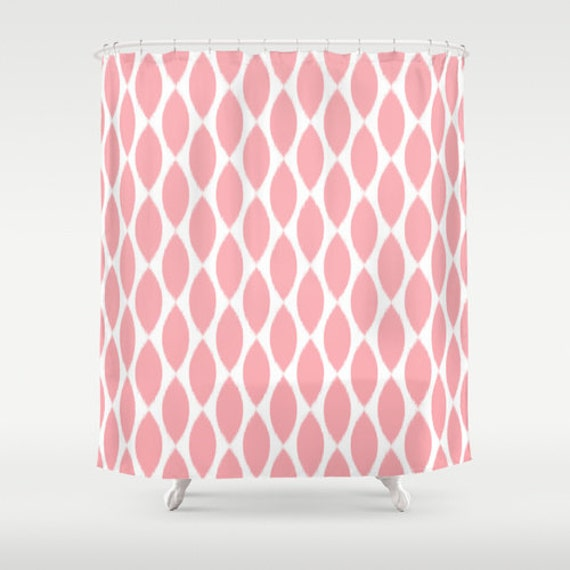 pink shower curtain girls bathroom decor tween girls girls