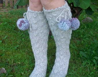 Hand knitted.Socks.