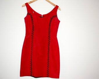 Red Zig Zag Dress