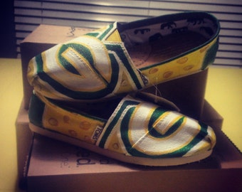 greenbay packers handpainted shoes