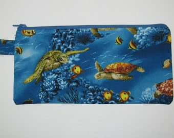 Ocean Turtle Zippered Pouch