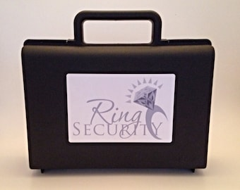Ring Security Briefcase (Silver) -- ring bearer gift, pillow alternative, ring agent, ring bearer