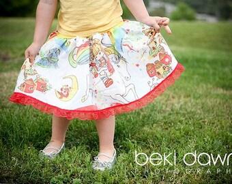 RAINBOW BRITE TuTu Skirt KIDS size from vintage fabric hippie punk