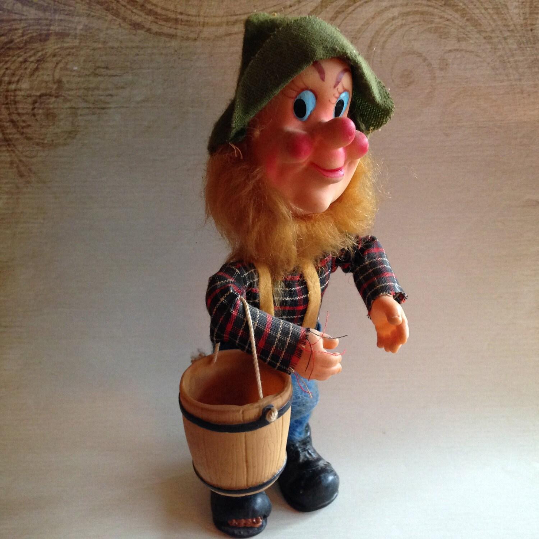 SALES Rare Vintage Illfelder Lumberjack Troll Doll With