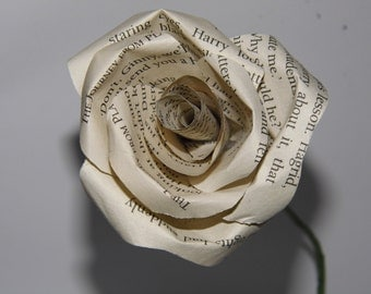 Lovely book page rose