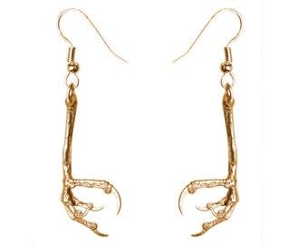 Talon Earring Bird Claw Jewelry Bronze Bird Claw Earrings