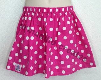 Girls Pink with White Polka Dot Skirt, Girls Pink and White Polka Dot Skirt