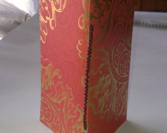 Hand made book - decorative paper - pamphlet stitch